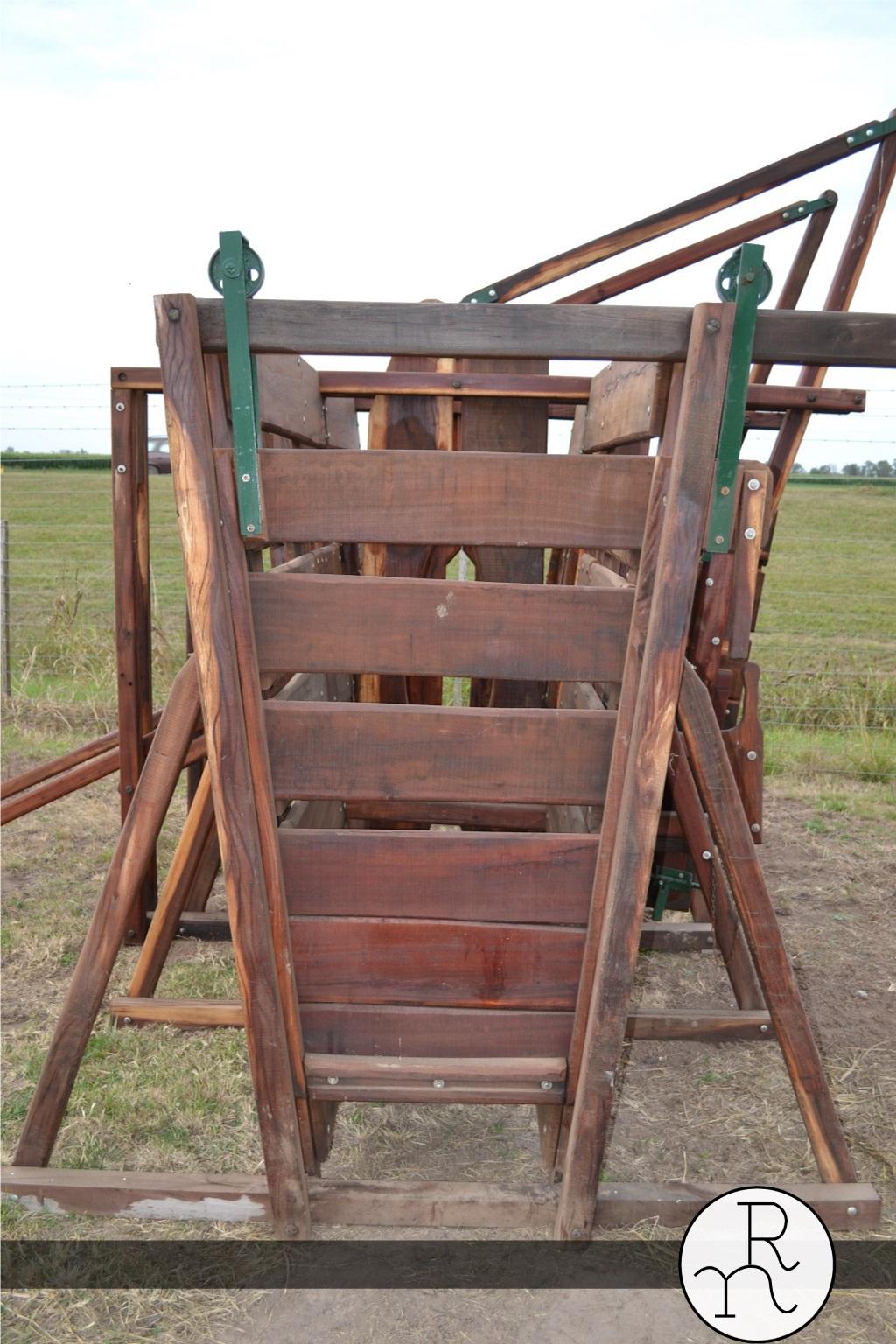 Cepo para ganado vacuno art culos rurales carpinter a for Modelos de puertas corredizas de madera