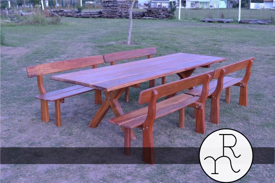 Mesas rusticas maciza rinc n del norte aserradero y - Mesas rusticas de madera maciza ...
