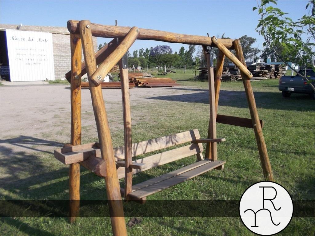 Mesas rústicas y hamacas para jardines y exteriores a medida ...