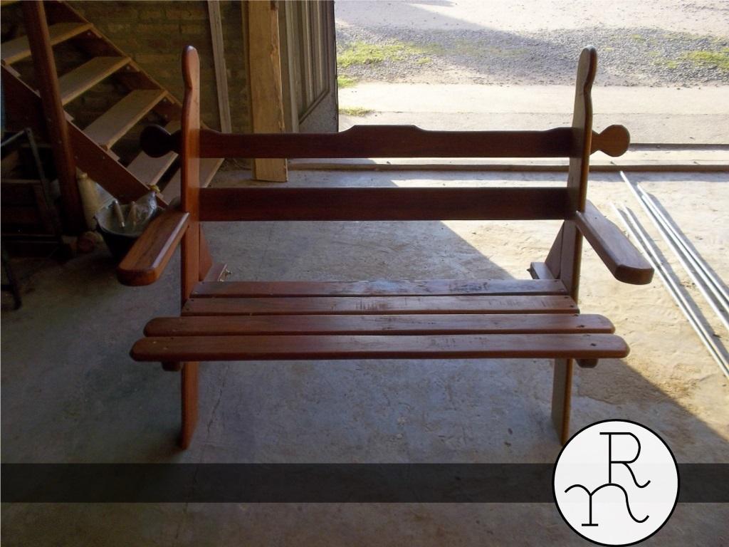 Banco de madera para jardines rinc n del norte for Accesorios de jardin