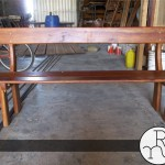 imagen banco de madera para exteriores