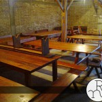 foto bancos y mesas madera para exterior