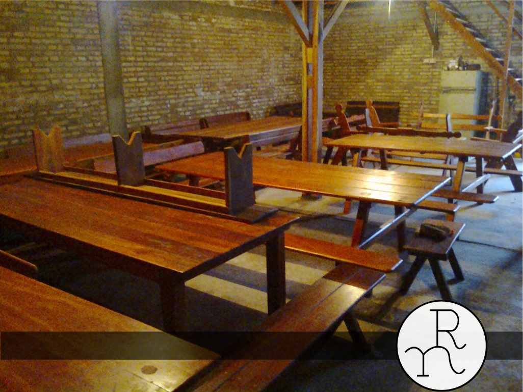 bancos y mesas madera para exterior | Rincón del Norte. Aserradero y ...