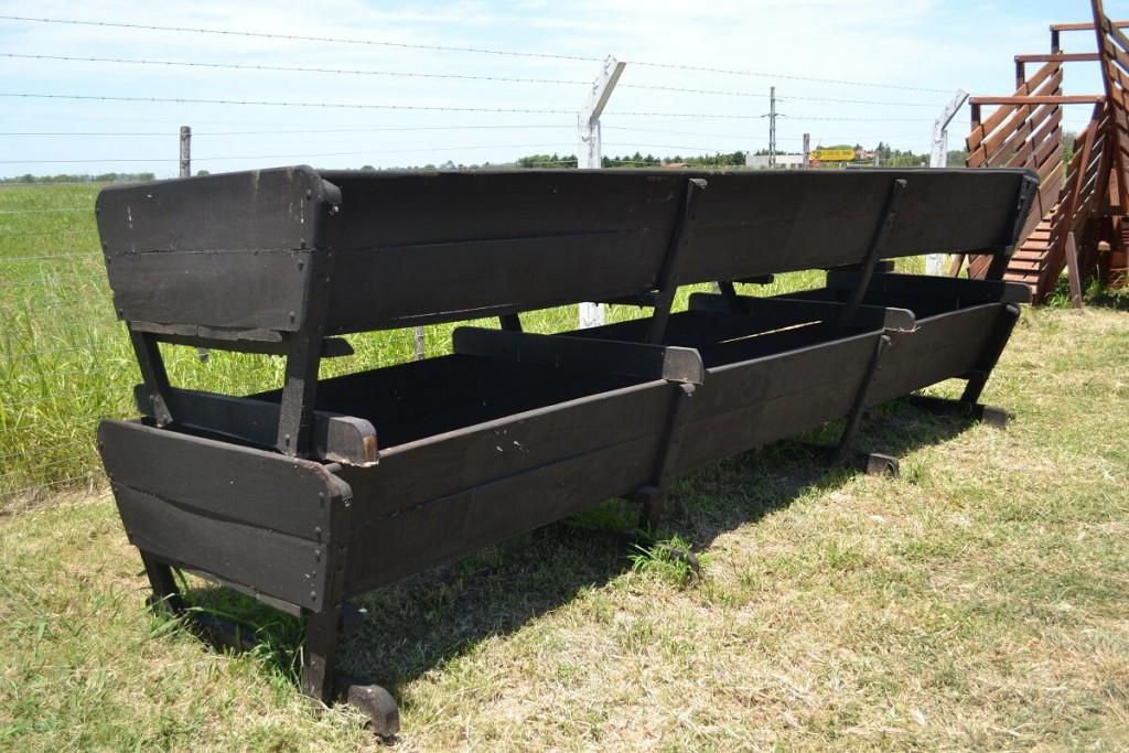 bateas piletas de madera para alimentacion del ganado